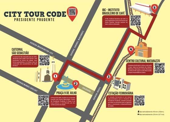 Divulgação - Mapa pontua locais que integram a publicação