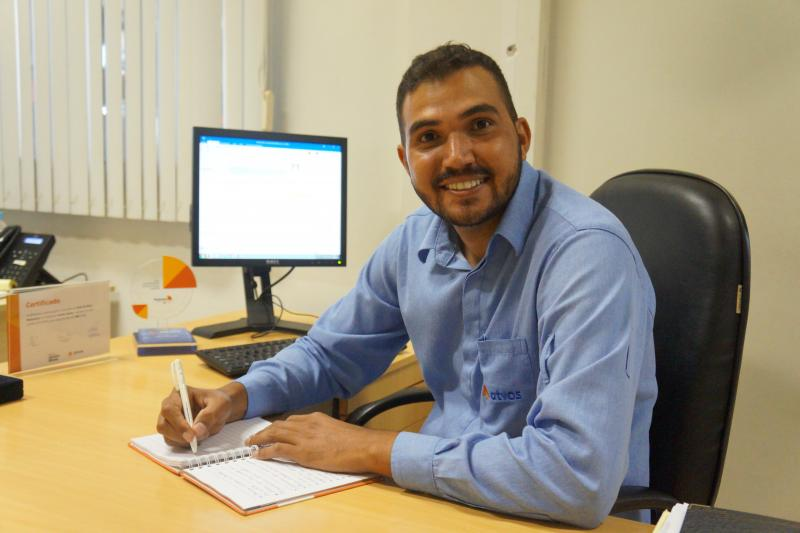 Divulgação/Atvos - José entrou em 2015 na empresa e hoje é coordenador de setor