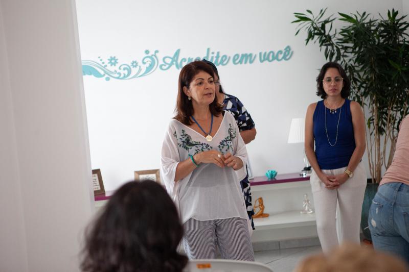 Cedida/Darcio Gusmão - Nancy Fernandes inaugura o espaço Pedrinhas de Brilhantes, no Espaço Reluz, no Centro de Prudente