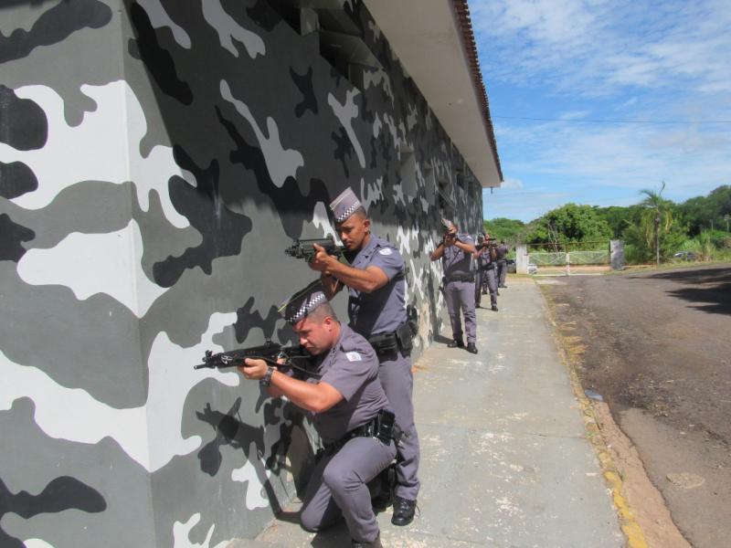 Arquivo - Militares do batalhão iniciaram treinamento um mês de antes do Baep ser inaugurado