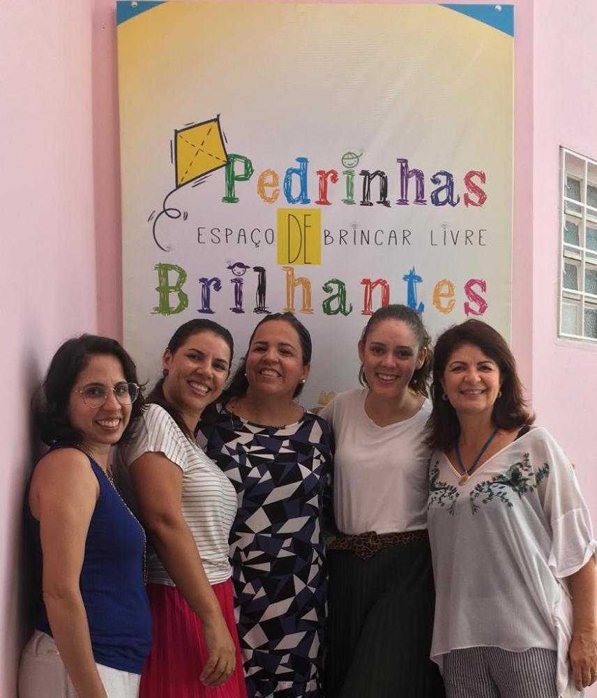 Darcio Gusman:Equipe no Espaço Reluz, Regiane Dutra, Eliane Melem, Sandra, Jussara Lins e Nancy Fernandes