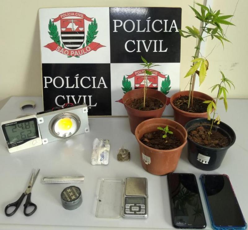 Polícia Civil - Materiais foram apreendidos durante operação ocorrida na região