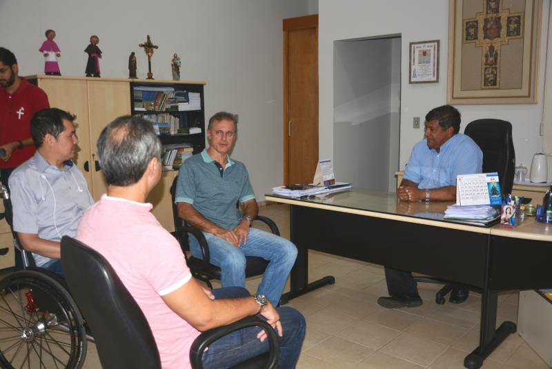 Marcos Sanches/Secom - Encontro entre representantes ocorreu na Cúria Diocesana