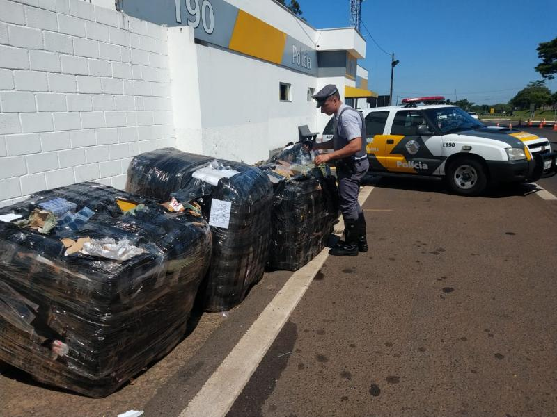 Cedida: Polícia Militar Rodoviária | Contagem inicial aponta para 5 mil itens