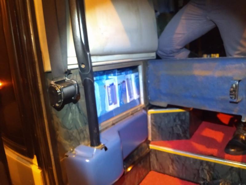 Polícia Militar Rodoviária - Produtos estavam em compartimento falso no ônibus