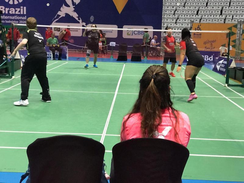 Foto: Cedida/ Mayara Bacarin - Rogério e Duda tiveram bom desempenho no Internacional de Parabadminton, na capital paulista