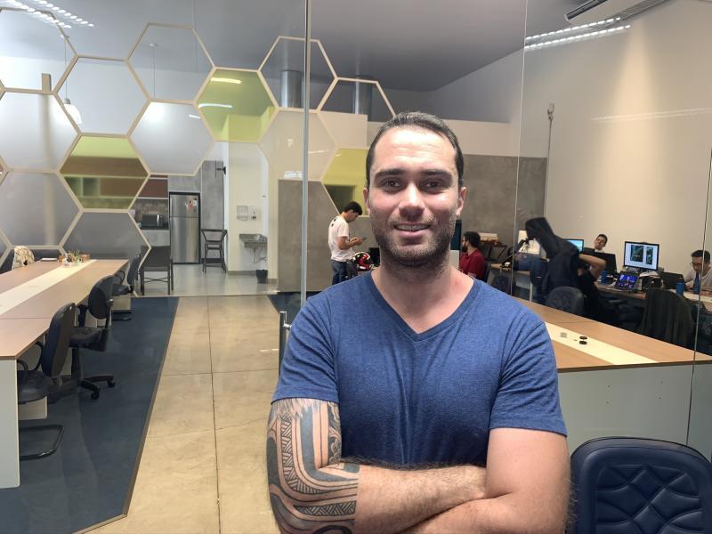 Eduardo é um dos organizadores do encontro com os co-fundadores do Buscapé