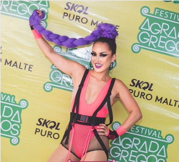 """Foto: Assessoria de Imprensa - Organizadora do bloco """"Agrada Gregos"""" no carnaval de rua de São Paulo, a DJ de Presidente Venceslau, Nathália Takenobu"""