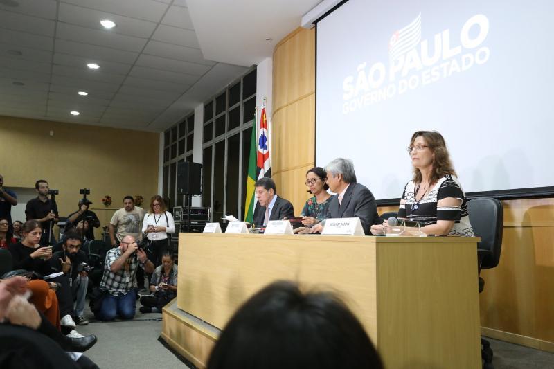 Governo do Estado - Coletiva reuniu autoridades do Estado, responsáveis por traçar ações futuras em relação à doença