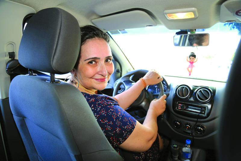 Weverson Nascimento:Silvana é motorista da plataforma desde julho de 2019