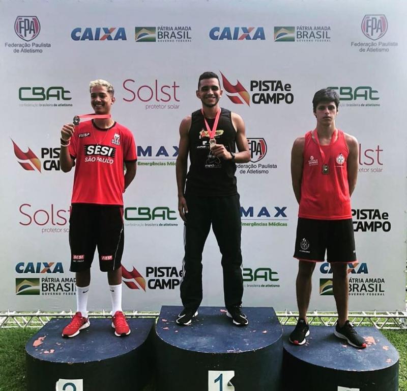 Fotos: Cedidas / Inaldo Sena - Henrique Malheiro foi campeão dos 110 m sem barreiras