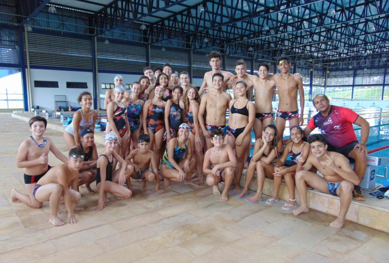 Cedida/Marcos Chicalé - Sob o comando do técnico Pépe, nadadores da Semepp estarão em Andradina neste sábado
