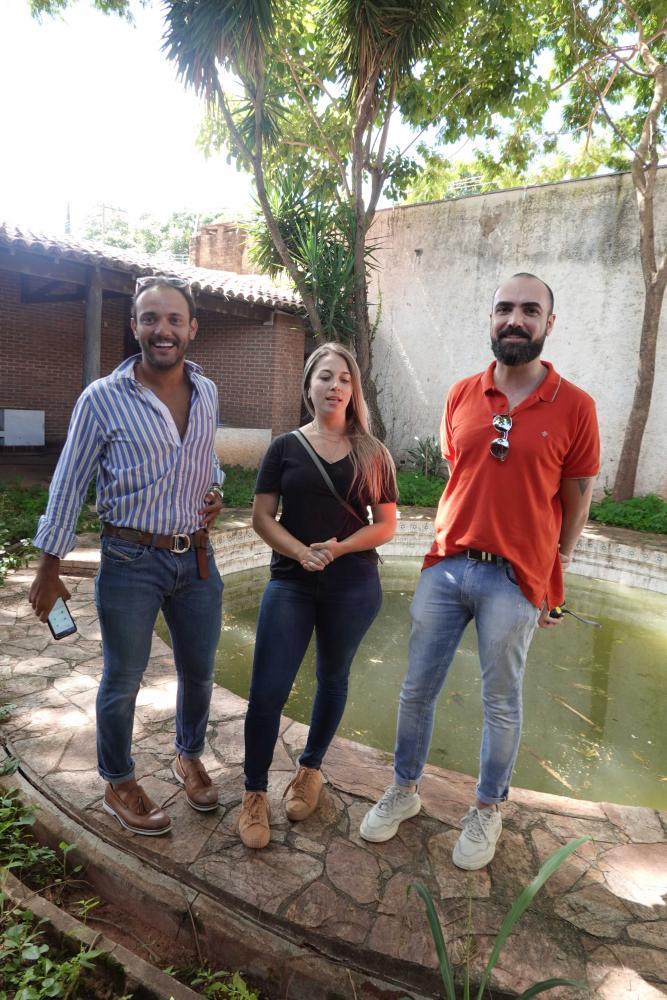 Arquitetos Rodrigo Muniz, Livia Spolador e Daniel Bôscoli foram conhecer a casa que receberá a Morar Bem 2020