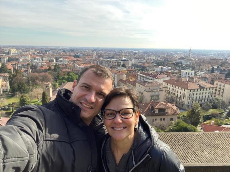 Arquivo pessoal - Carlos e Maria Raquel residem em Bérgamo, na Itália: