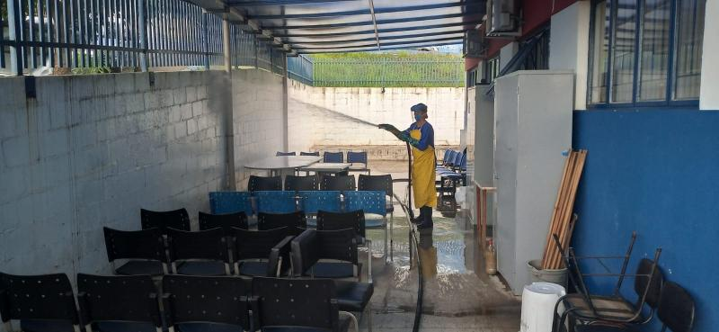 Cedida- Equipes concluíram a higienização de todas as unidades de saúde dos distritos