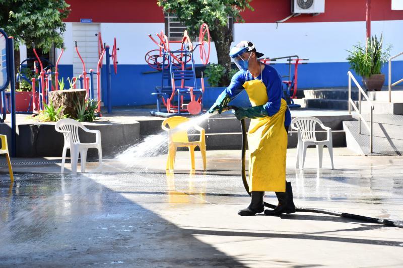 Marcos Sanches/Secom - Higienização dos espaços de saúde foi concluída hoje