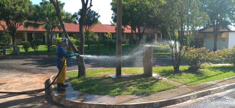 Cedida - Higienização é feita de Secretaria de Obras e Serviços Públicos