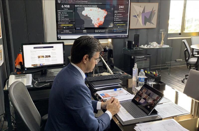 Divulgação - Reunião online tratou principalmente sobre repasses financeiros aos municípios