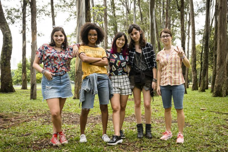 Ramón Vasconcelos/TVGlobo - As protagonistas da trama: Licas, Ellen, Tina,Benê e Keyla