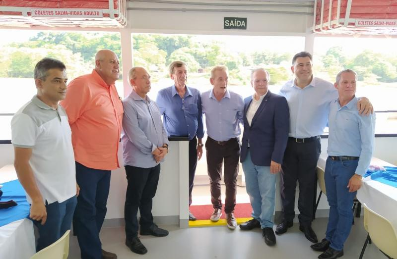 Cedida - Reunião em Barra Bonita, onde ocorreu a discussão pela reativação das eclusas de Três Irmãos e Jupiá