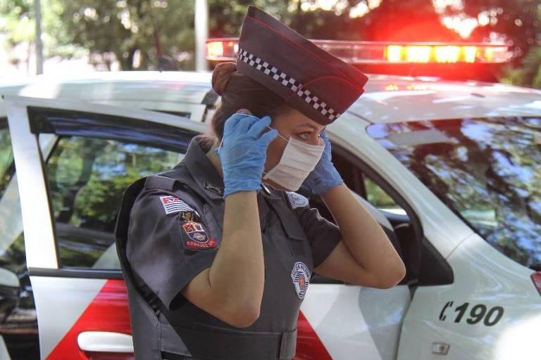 Divulgação/Polícia Militar - PM intensificou o policiamento para evitar aglomerações