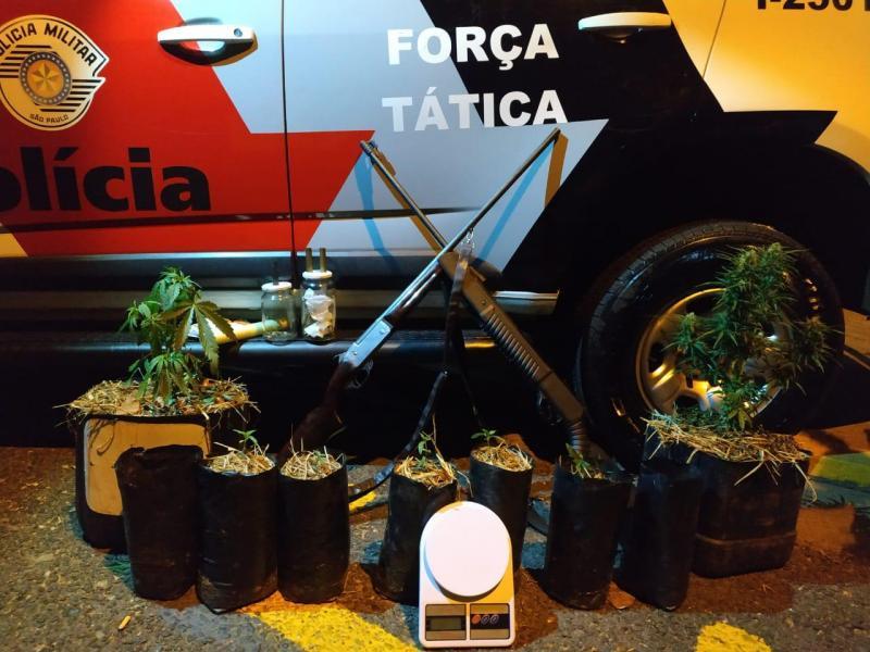 Polícia Militar - Materiais estavam em uma propriedade rural em Dracena
