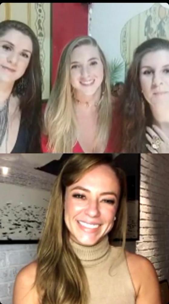 As irmãs Shaia Zurah, Faaria Esmer e Soraya Najla, com a atriz Paola Oliveira, falaram sobre dança do ventre, no Instagram