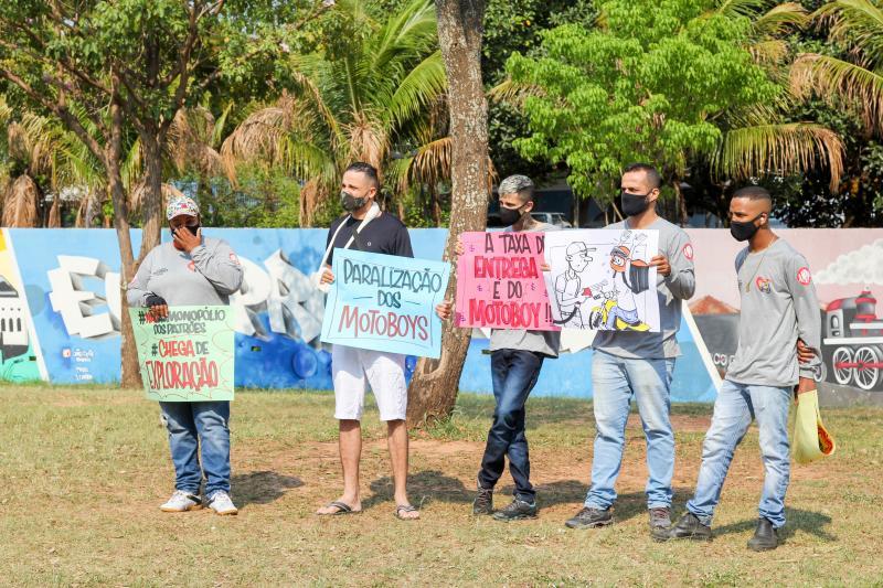 entregadores de delivery de presidente prudente e região protestam por melhores condições de trabalho