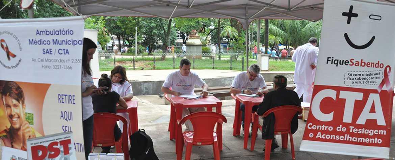 Campanha visa realizar 7 mil testes rápidos de HIV e sífilis