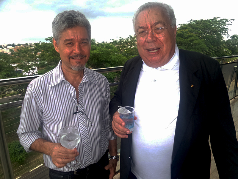RUBENS AFONSO, PRESIDENTE DO SINDICATO DOS HOTÉIS E RESTAURANTES, E EDSON DONHA, DO HOTEL ROTA DO PANATANAL