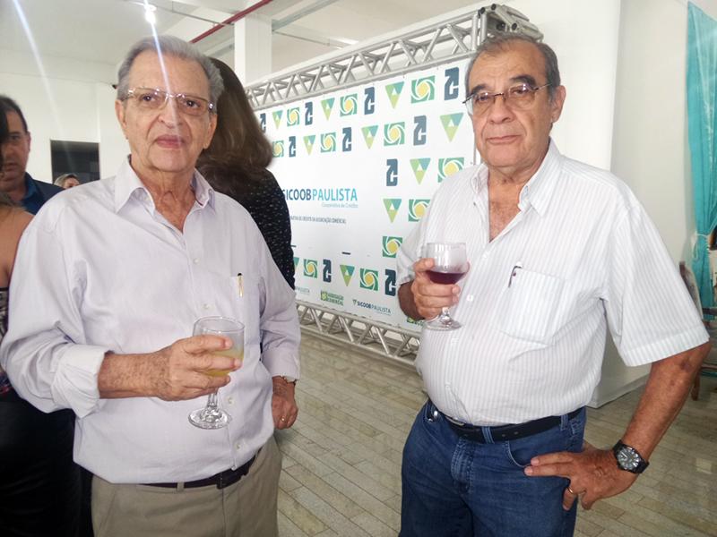 VITALINO CRELLIS, PRESIDENTE DO SINCOMERCIO, AO LADO DO EMPRESÁRIO RENATO SEVERINO DA SILVA