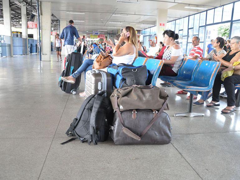 José Reis,Administração do terminal rodoviário recomenda que todos mantenham as bagagens visíveis, para evitar extravios por esquecimento