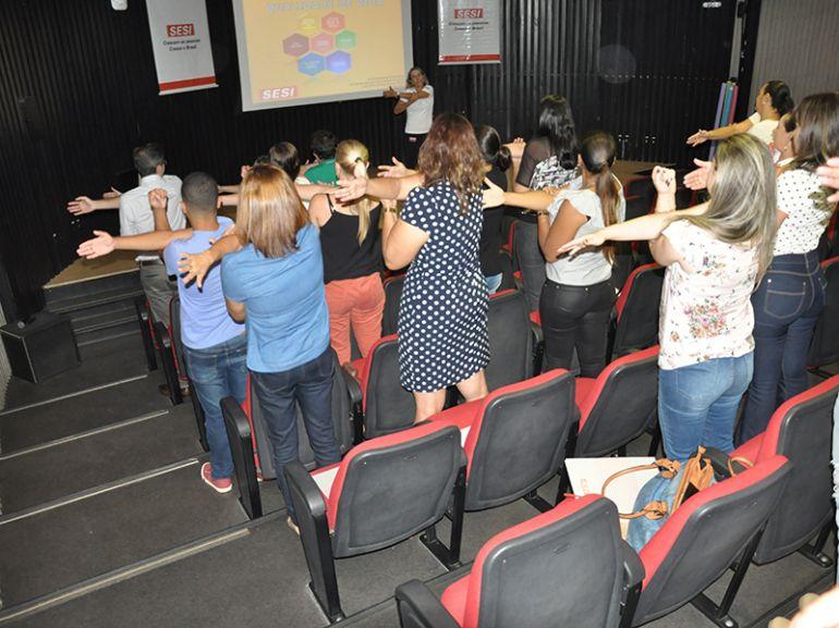 Foto: José Reis, Convidados realizaram exercícios, atividades e tiveram momentos de interação