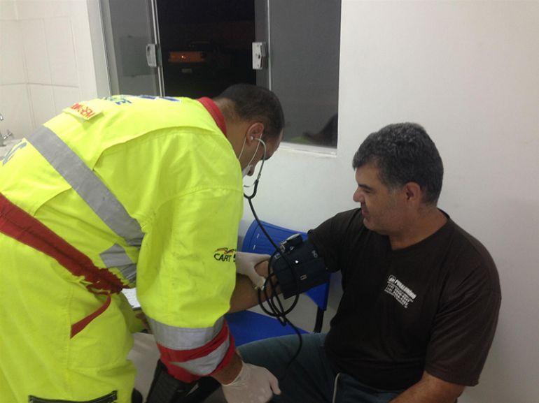 Cedida Cart, Condutores realizaram exames de pressão e índice glicêmico
