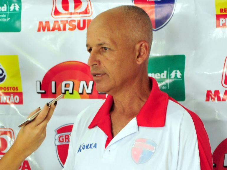 Arquivo - Paulo Silva comandou o Grêmio Prudente em apenas uma partida