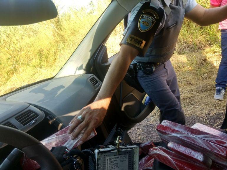 Polícia Militar Rodoviária - Droga estava escondida e foi apreendida em ação da polícia