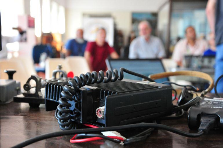Marcio Oliveira:Durante o bate-papo, foram apresentados equipamentos antigos de telecomunicações