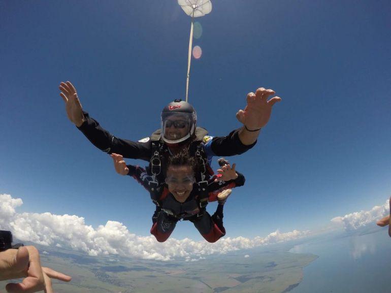 Cedida/Carlos Sacca - Visual natural de Presidente Epitácio ganhou o coração dos praticantes do paraquedismo