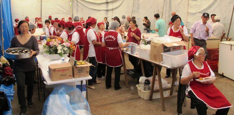 Arquivo - Graças ao voluntários festa é sucesso, neste organização conta com a contribuição de cerca de100 colaboradores