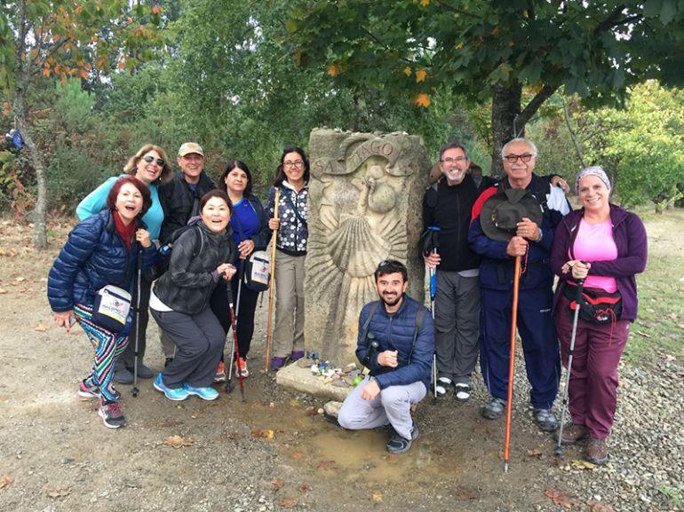 Grupo da ultima excursão de peregrinos de Presidente Prudente no Caminho de Santiago de Compostela, pela agência Balbinotur