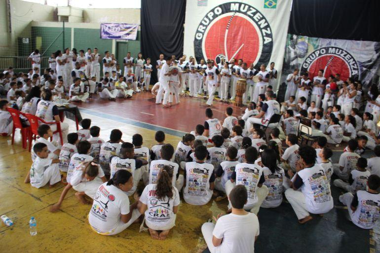 Cedida/Adriano Curió:Evento realizou a troca de graduações entre capoeiristas