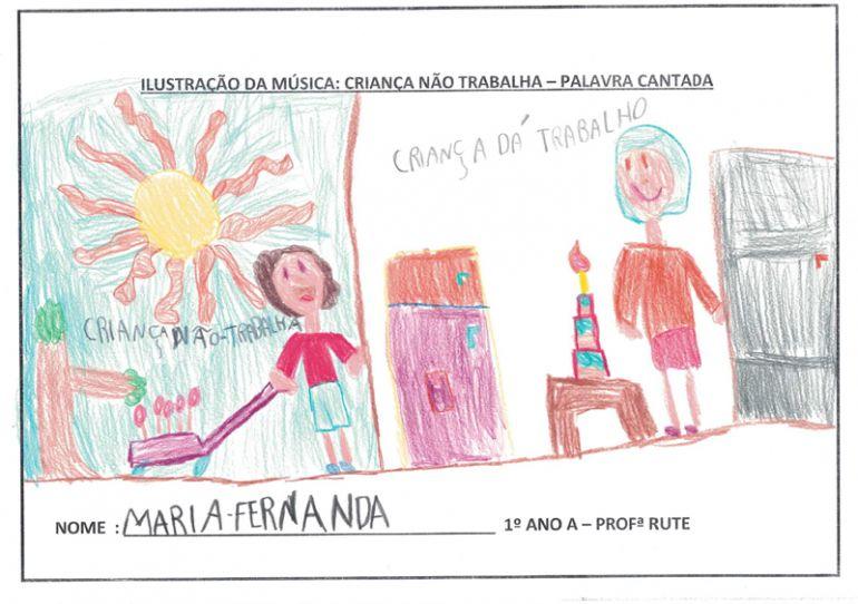 Aluna -Maria Fernanda Lucena Silva, 6 anos, 1º Ano A