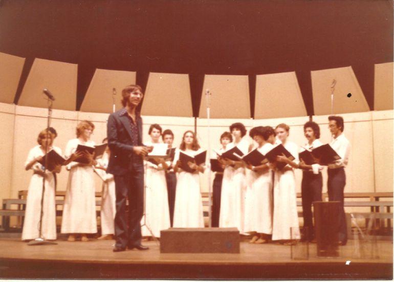 Cedida/Arquivo Pessoal - Em 1977 ganhou o primeiro lugar no 1º Concurso de Corais do Estado de São Paulo