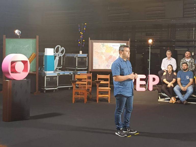 Cedida: Itamar passou dois dias nos estúdios Globo para ensaios e gravações; programa irá ao ar no GloboPlay e no canal no Youtube