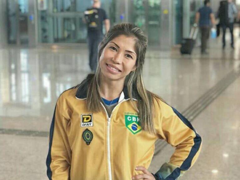 Cedida/Valéria Kumizaki - Carateca é a atual primeira colocada no ranking nacional da categoria kumitê sênior feminino