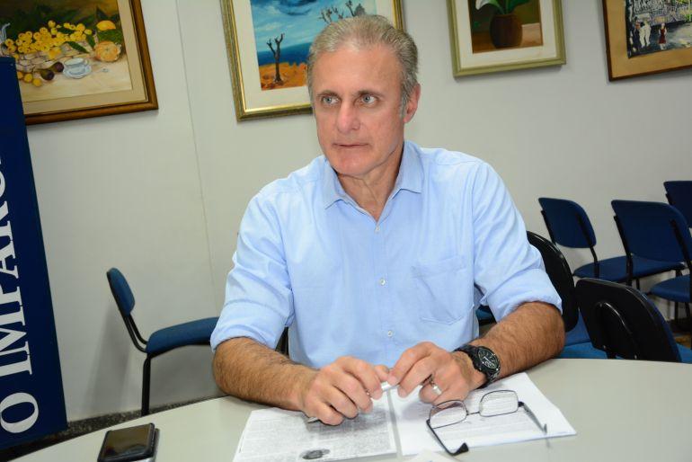 Marcos Sanches/Secom - Bugalho esteve na sede de O Imparcial e comentou sobre os desafios da gestão e propostas ao município