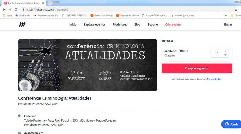 Reprodução - Inscrições podem ser efetuadas, de forma gratuita, no link www.makeplace.com.br/event/252