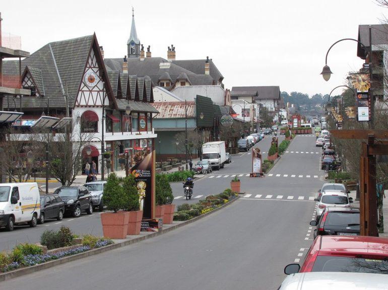 Cidade de Gramado, a mais visitada na Serra Gaúcha