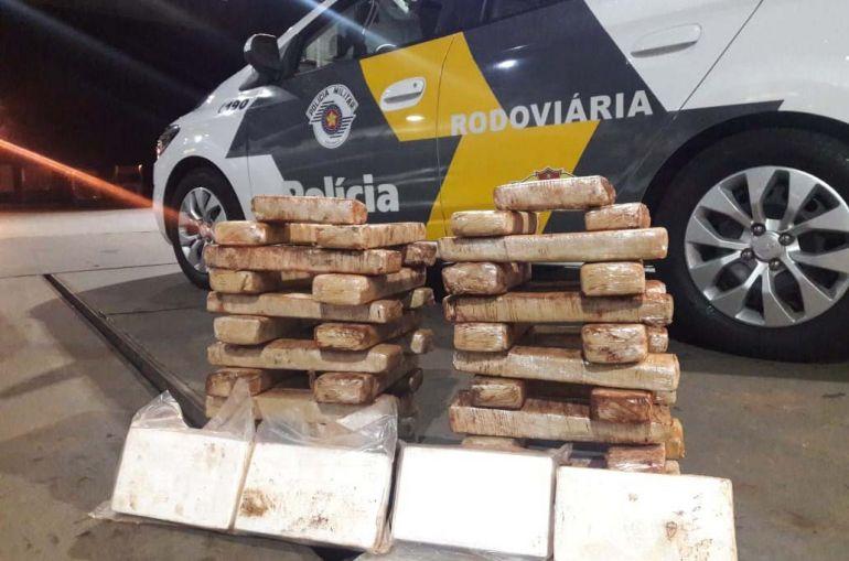 Polícia Militar Rodoviária - Droga estava em fundo falso no porta-malas de um Peugeot/206, com placas de Ponta Porã (MS)