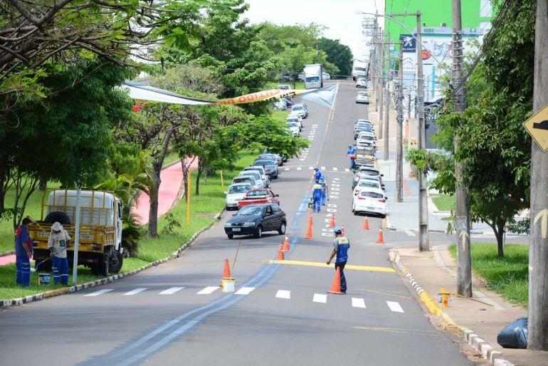 Marcos Sanches/Secom - Nova sinalização faz parte das obras de infraestrutura viária naquela região da cidade